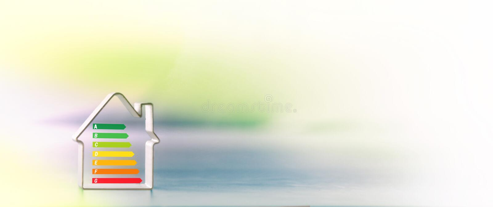 Real estate, energy performance, for sale. Ecology, banner stock image