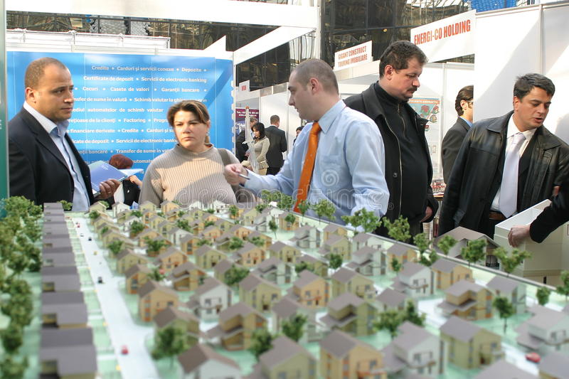 Real estate fair. Romanian national real estate fair in Bucharest royalty free stock images