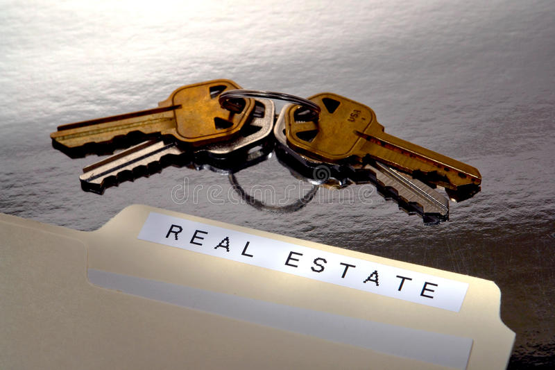 Download Real Estate File Folder And House Keys Stock Photo - Image: 14032464