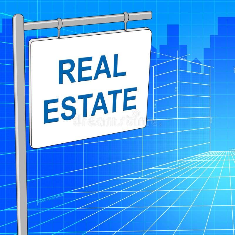 Real Estate firma rappresenta per la vendita e le costruzioni illustrazione di stock
