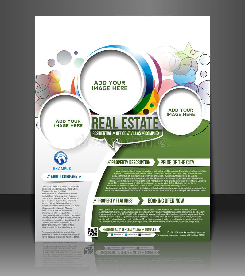 Real Estate Flyer Design. Real Estate Flyer & Poster Template Design