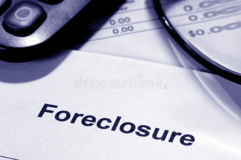 Real Estate Foreclosure Notice with Zero Number stock image