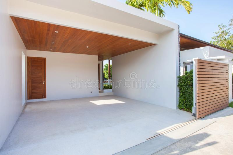 Real estate Garage parking house home interior exterior. Real estate Garage parking  home interior exterior royalty free stock image