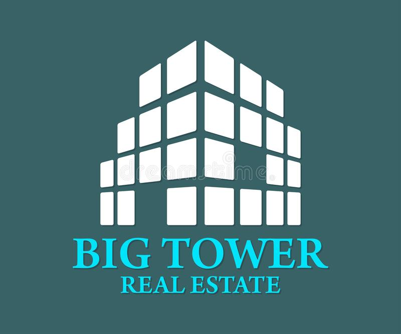 Real Estate, Gebäude, Bau und Architektur Logo Vector Design vektor abbildung