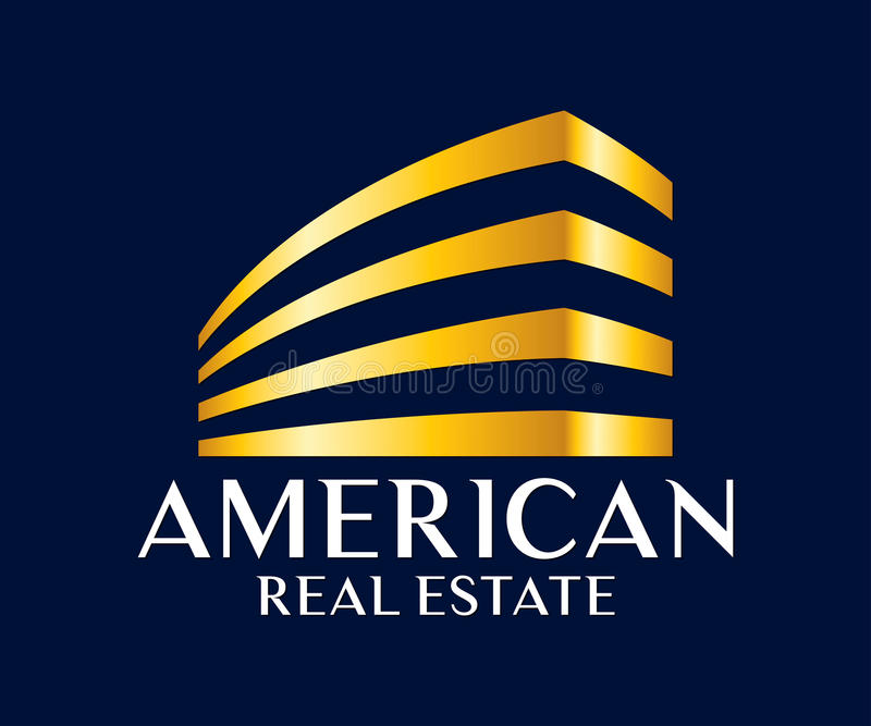 Real Estate, Gebäude, Bau und Architektur Logo Vector Design lizenzfreie abbildung