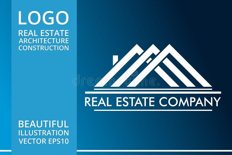 Real Estate, Gebäude, Haus, Bau und Architektur Logo Vector Design vektor abbildung