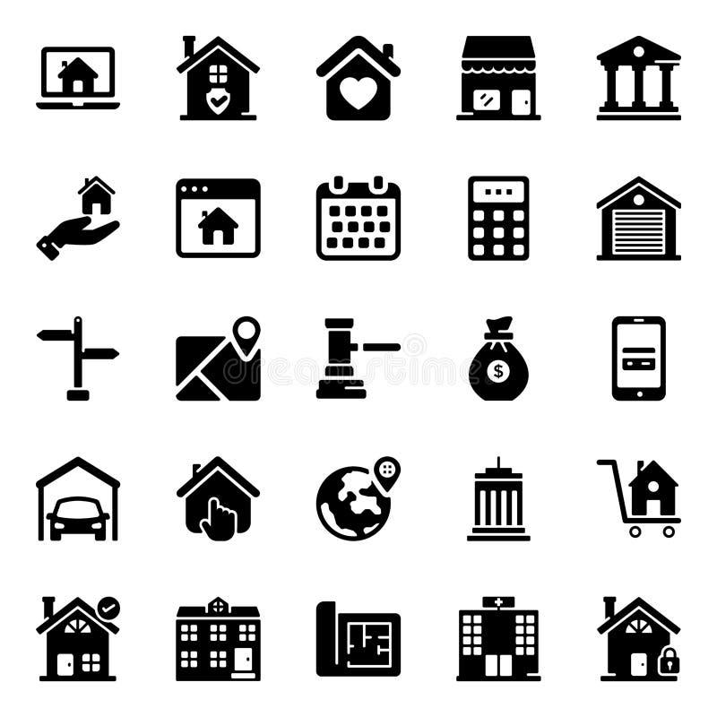 Real Estate-Gebouwen Stevige vector royalty-vrije illustratie