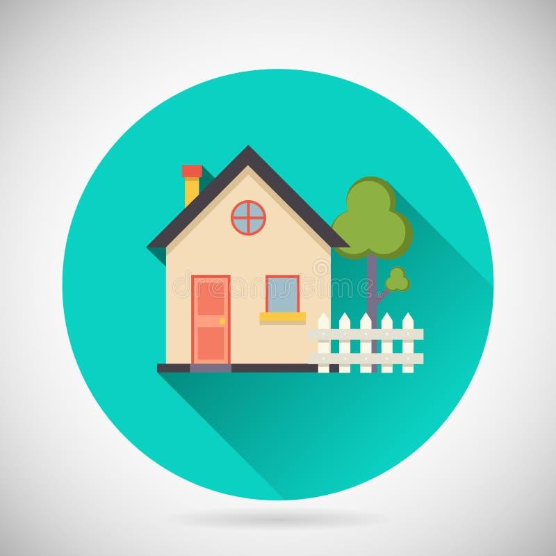 Real Estate-het Privé-bezit van de SymboolWoningbouw vector illustratie