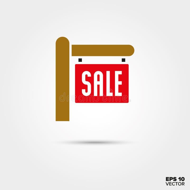 Real Estate-het vectorpictogram van het verkoopteken stock illustratie