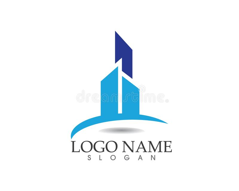 Real estate and home buildings logo icons template vector illustration