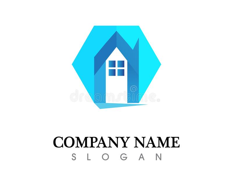 Real estate and home buildings logo icons template royalty free illustration