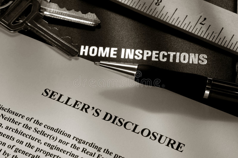 Real Estate Home Owner Seller Disclosure Statement stock image