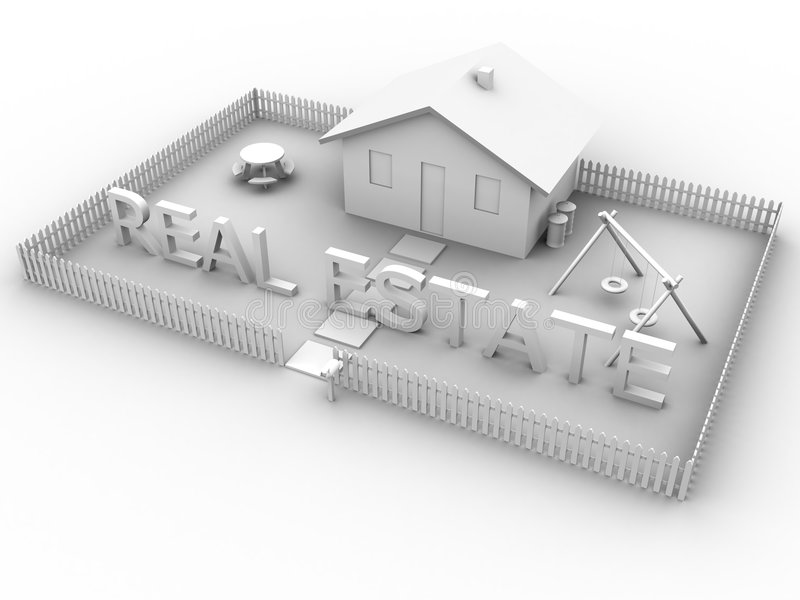 Download Real Estate with House 2 stock illustration. Illustration of living - 118482