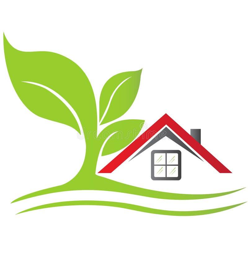 Real estate house logo vector stock illustration