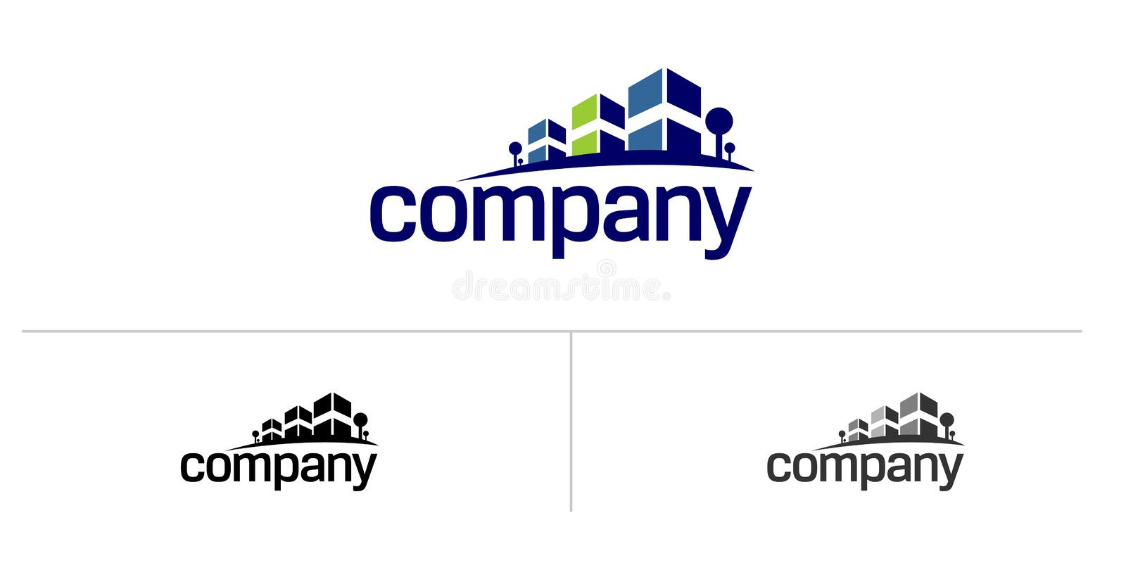 Real estate house logo stock illustration