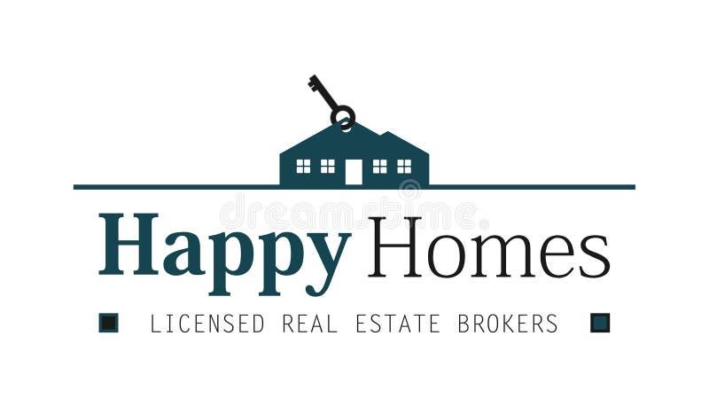 Real estate house logo royalty free stock photo