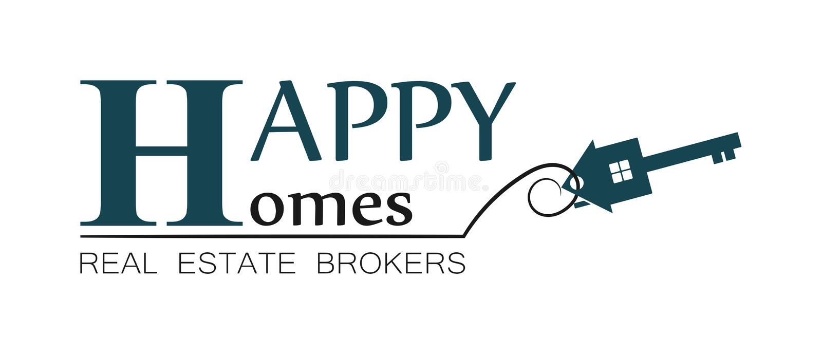Real estate house logo (2) royalty free stock images