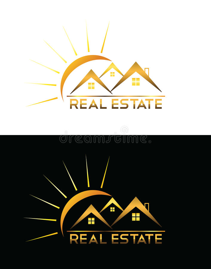 Real Estate house logo royalty free illustration