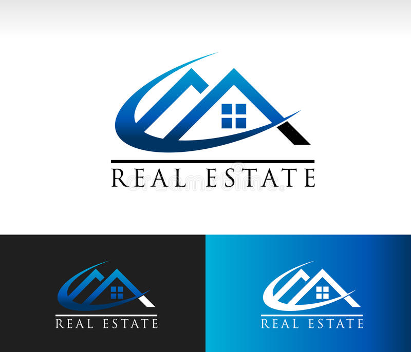 Real Estate-Huisdak Logo Icon royalty-vrije illustratie