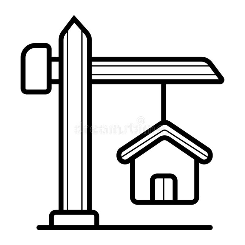 Real estate icon stock illustration