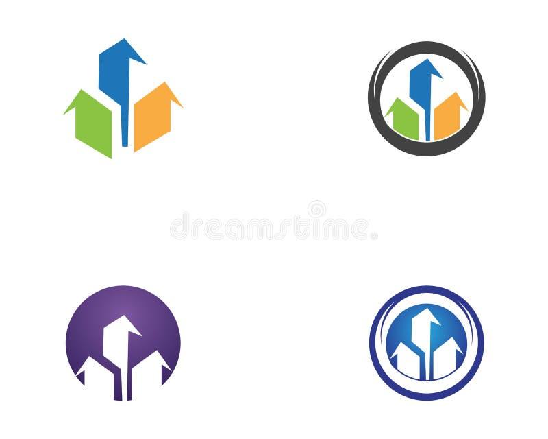 Real estate icon logo stock illustration