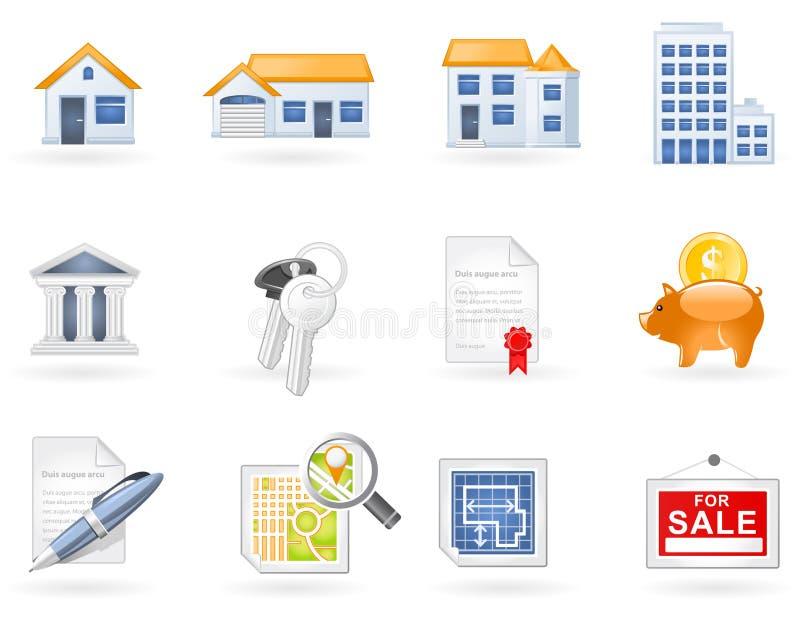 Real Estate icon set vector illustration