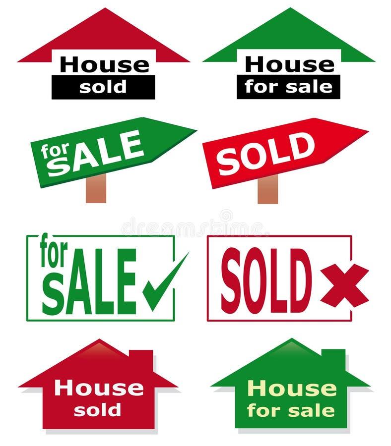 Real estate icon set stock illustration