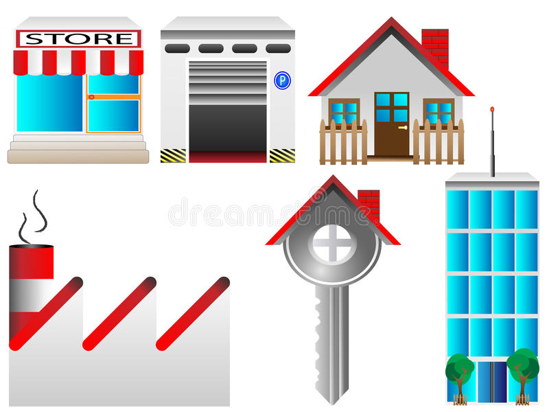 Download Real estate icon set stock vector. Image of illustration - 23393677