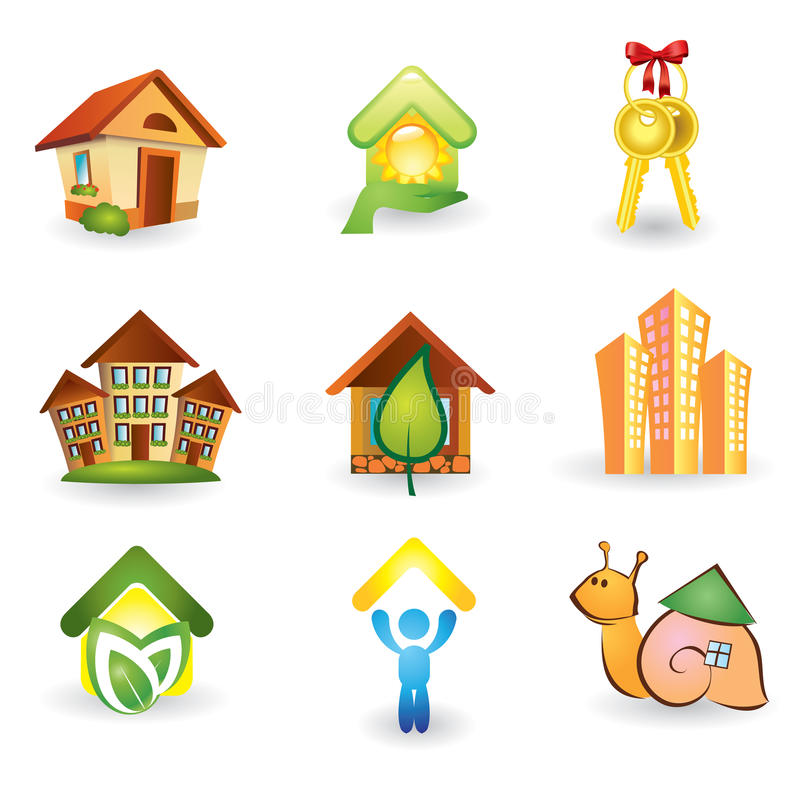 Download Real Estate -  Icon Set stock vector. Image of element - 24825249