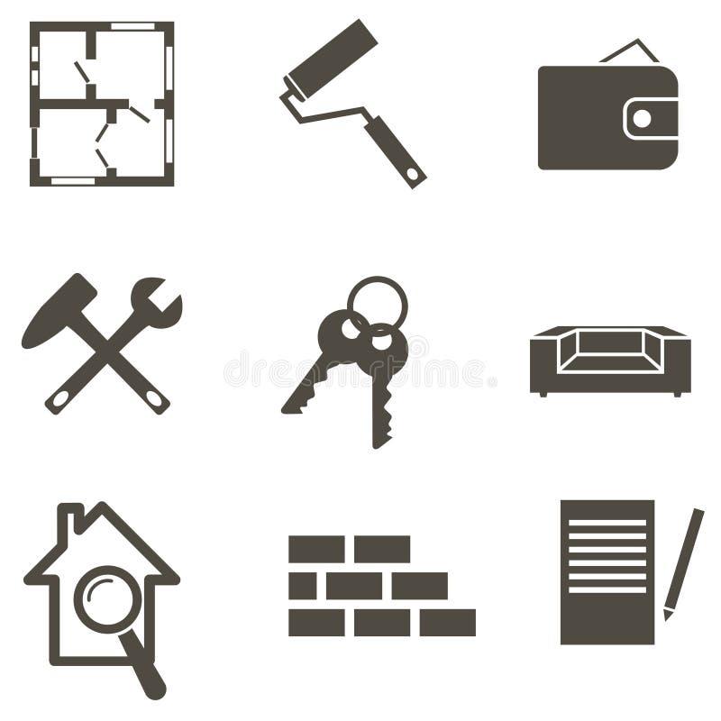 Real estate icon set vector illustration vector illustration
