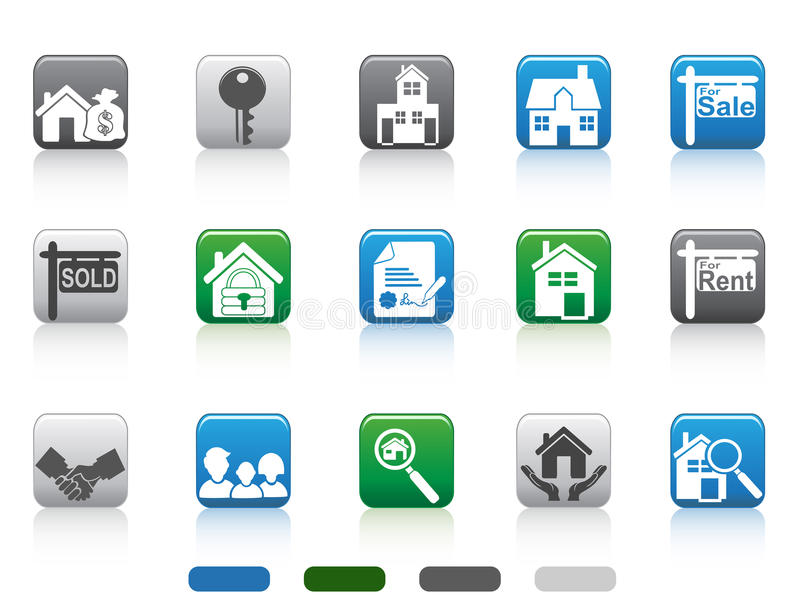 Download Real Estate Icon,square Button Series Stock Image - Image: 25021601