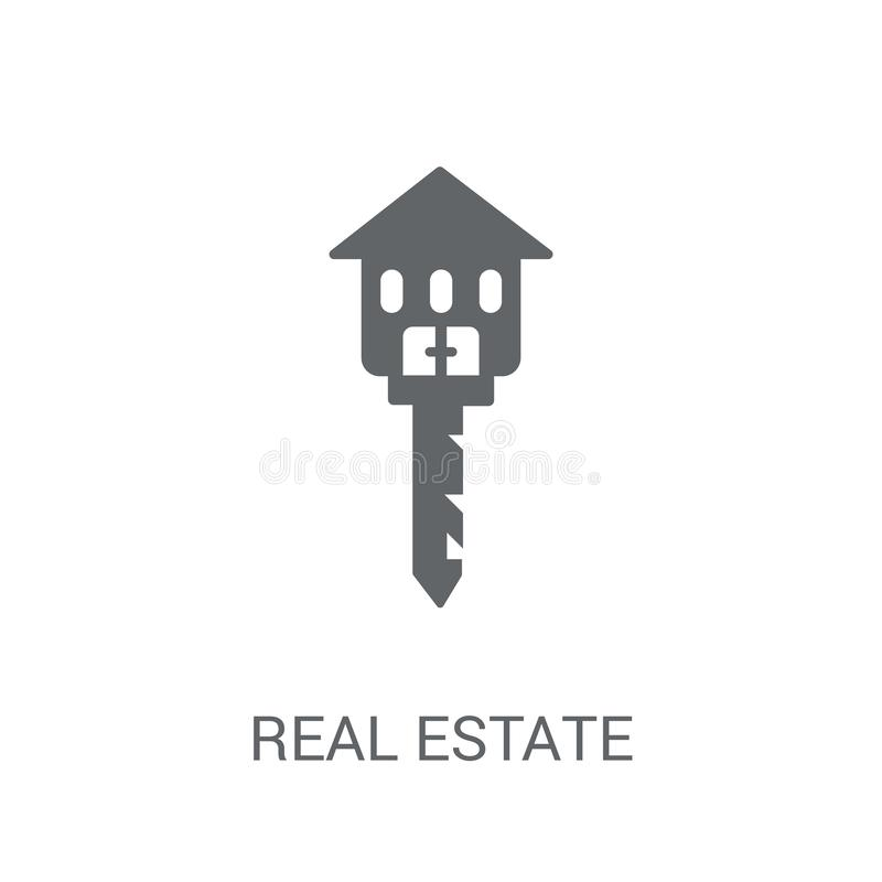 Real estate icon. Trendy Real estate logo concept on white background from Real Estate collection. Suitable for use on web apps, mobile apps and print media royalty free illustration