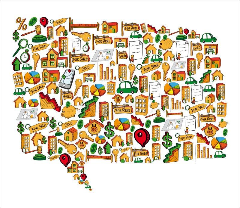 Real estate icon USA shape vector illustration