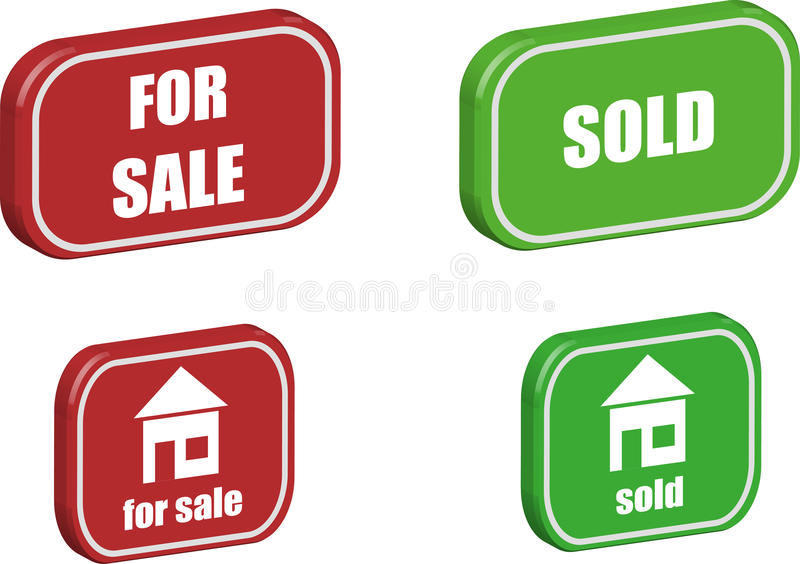 Real estate icons stock images