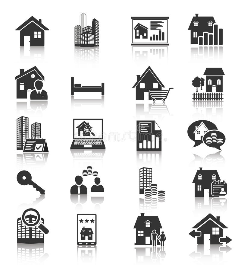 Free Real Estate Icons Stock Photo - 31708920