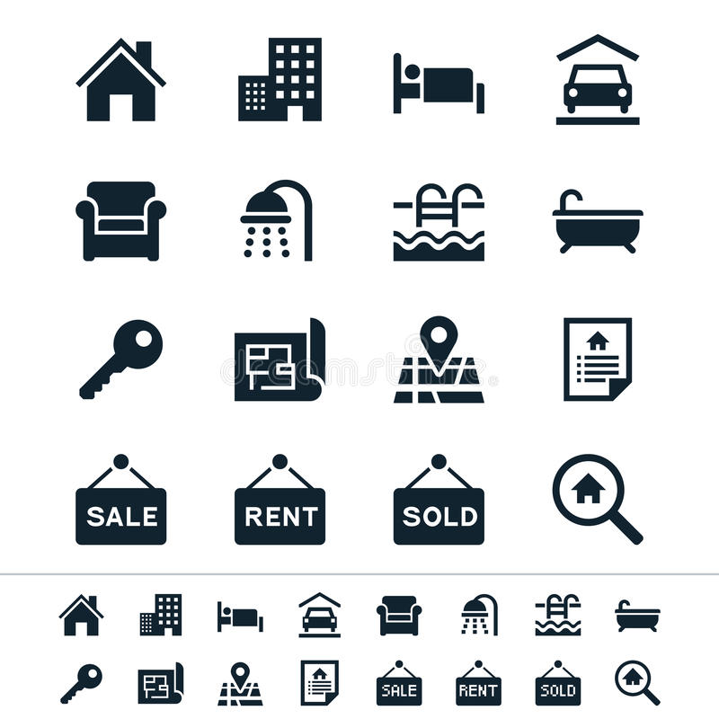 Free Real Estate Icons Stock Photography - 32308962