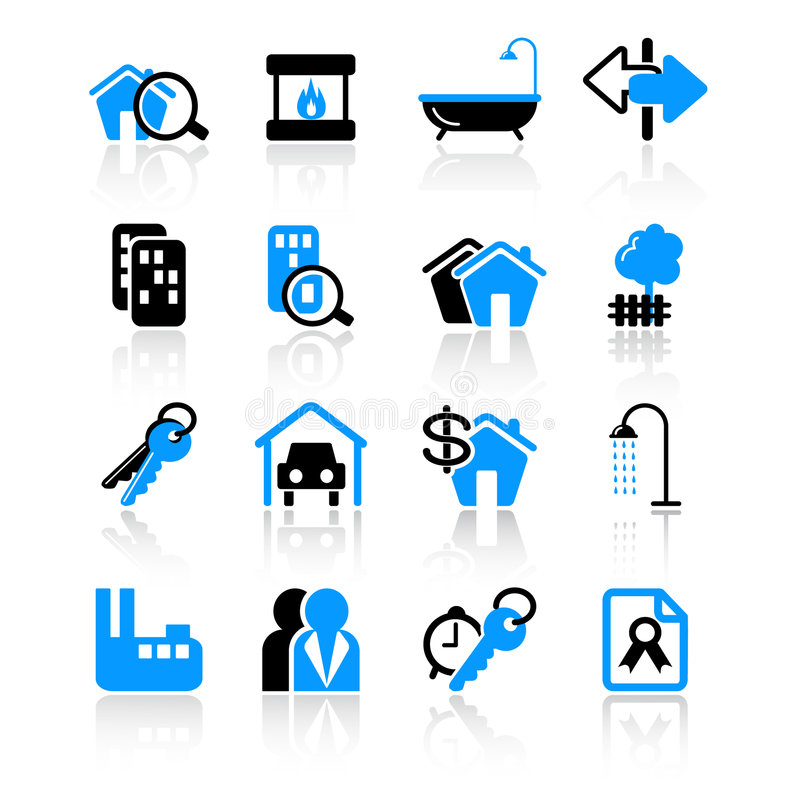 Download Real Estate Icons Royalty Free Stock Image - Image: 8604046