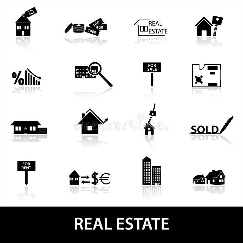 Download Real Estate Icons Eps10 Stock Vector - Image: 39241890
