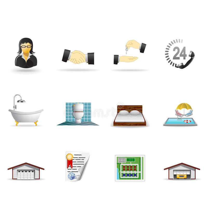 Real estate icons, part 2 stock illustration