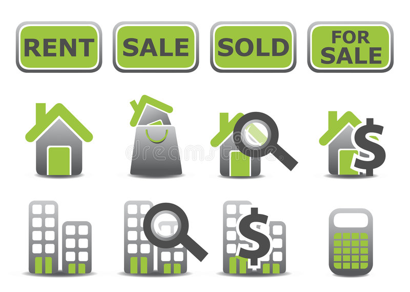 Real estate icons set vector illustration