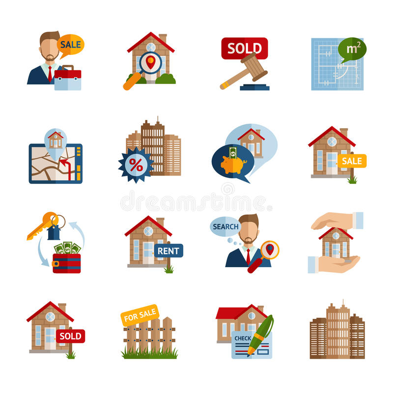 Real Estate Icons Set vector illustration