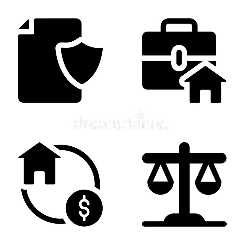 Real Estate Icons Set royalty free illustration
