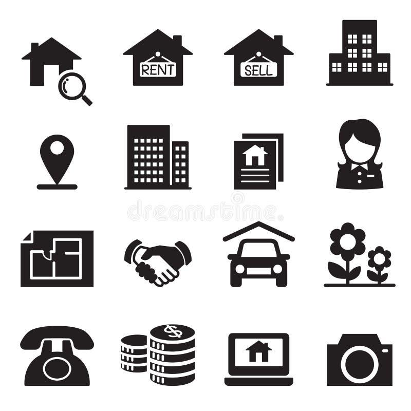 Real estate icons Vector illustration symbol set. Real estate icons Vector illustration vector illustration graphic design symbol vector illustration