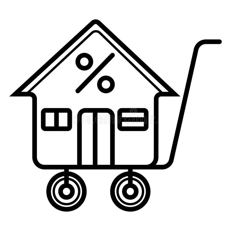Real Estate ikona royalty ilustracja