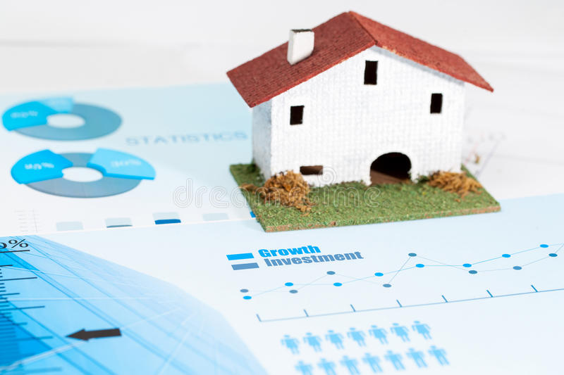 Real estate industry analysis. Close up of statistical housing industry analysis stock images