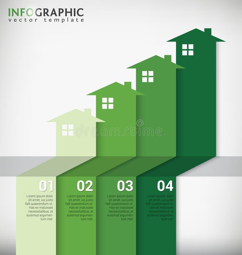 Real Estate Infographic illustration stock