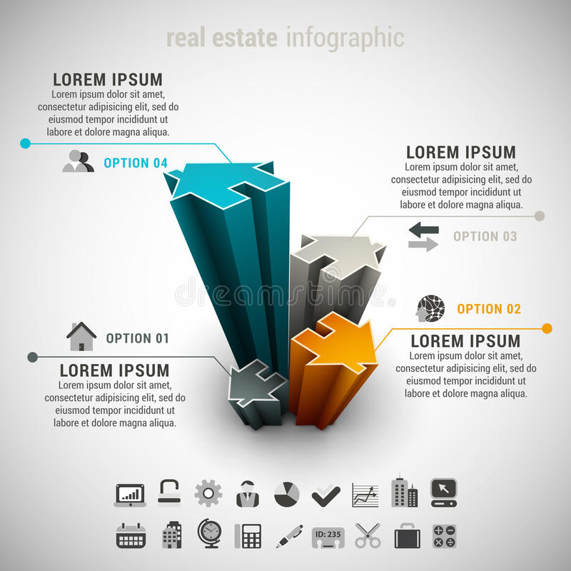 Real Estate Infographic stock abbildung