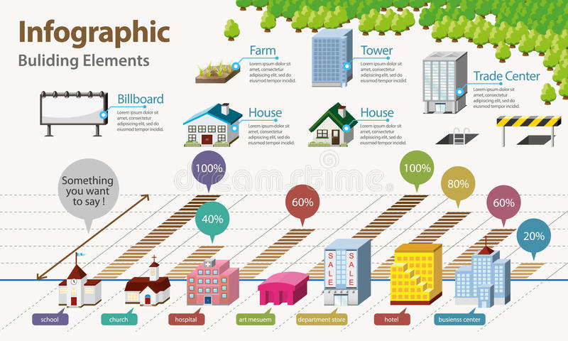 Real Estate Infographic stock illustration