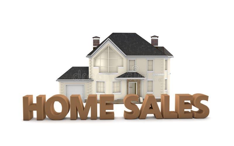 Real Estate-Inlandsverkäufe lizenzfreie abbildung