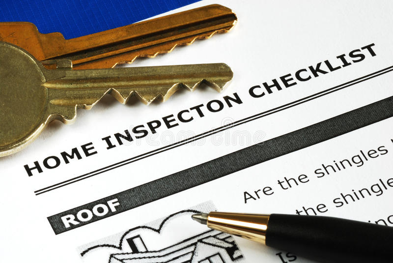 Real Estate Inspection Report stock photo